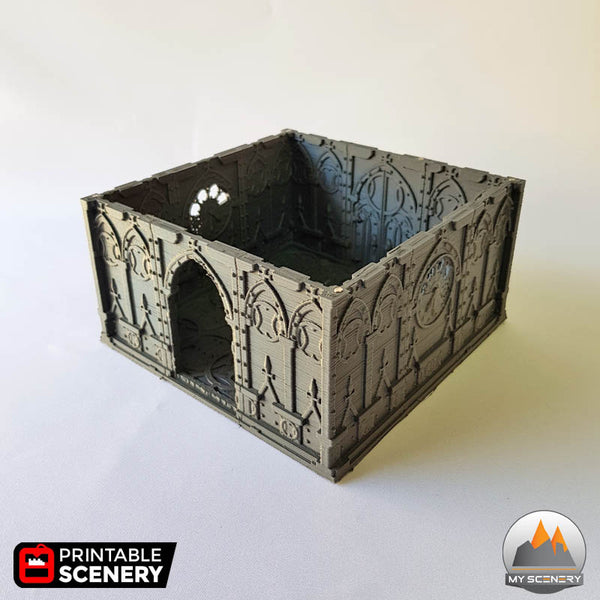 MAGNET AIMANT Tower gothic printable scenery wargames wargame warhammer 40k batiment building gothic gothique scenery décor decor print 3D impression 3D