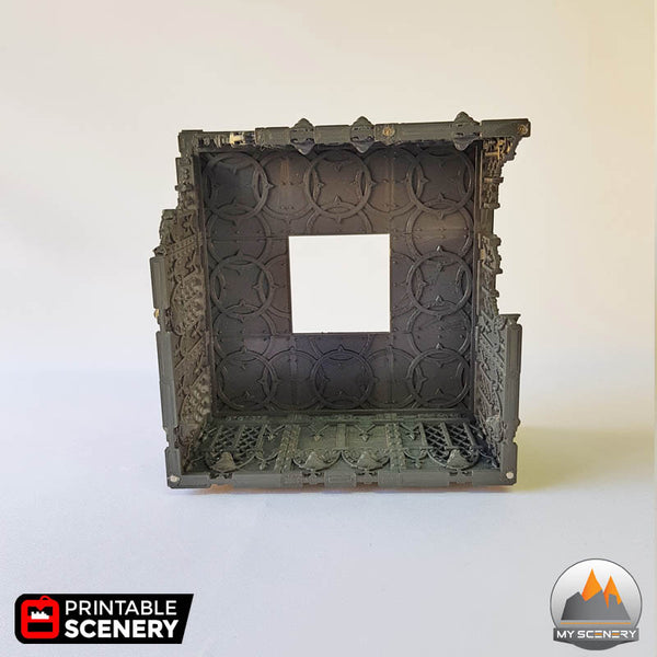 AIMANT MAGNET Tower gothic printable scenery wargames wargame warhammer 40k batiment building gothic gothique scenery décor decor print 3D impression 3D
