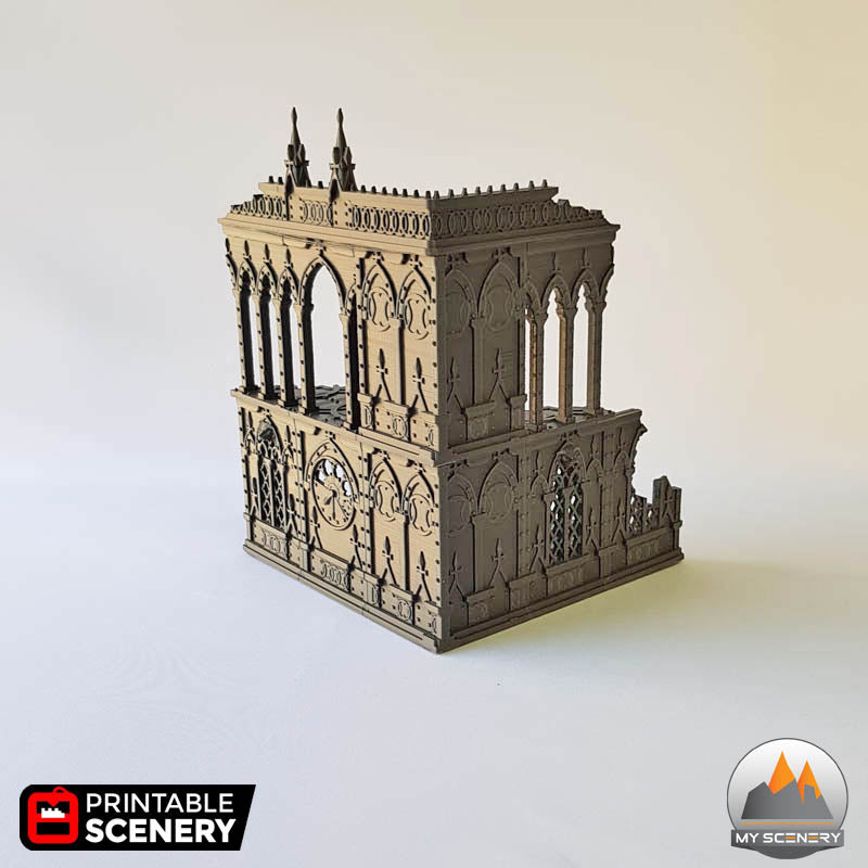 2 niv batiment building gothic gothique scenery décor decor print 3D impression 3D
