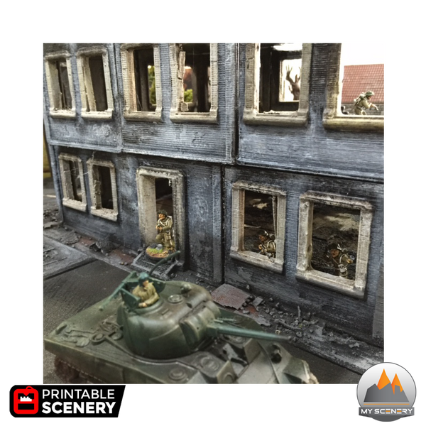 Stalingrad Ruine Ruin 40k Warhammer 40 000 Humain Space marine Historic Historique Buildings human scenery décor decor print 3D impression 3D