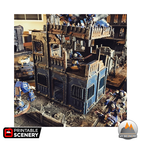 40k Warhammer 40 000 Humain Space marine Buildings human scenery décor decor print 3D impression 3D customisable