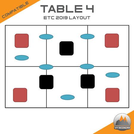 ETC Tabletop wargame compatible table 4 type My Scenery Warhammer 40000 40k