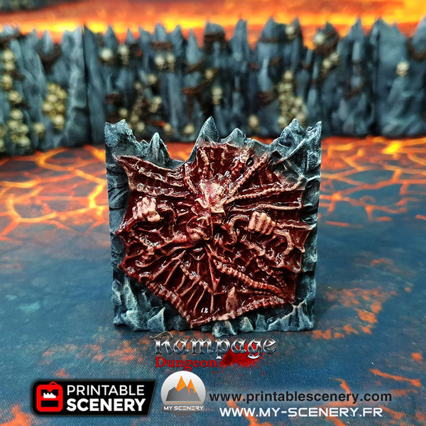 Head Démon Caverne du tourment Demon Demons Caverns of Torments scenery décor decor print 3D impression 3D imprimé en 3D jeu figurine