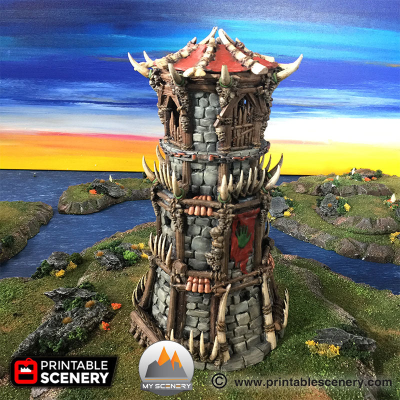 Fort tribal orc defense defence donjon dungeon scenery décor decor print 3D impression 3D