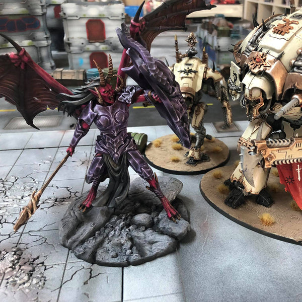 Painted peint paint Manca DEMON prince proxy countas count as W40K Warhammer 40 0000 GREATER ENTITIES LEGION DISTRIBUTION MY SCENERY