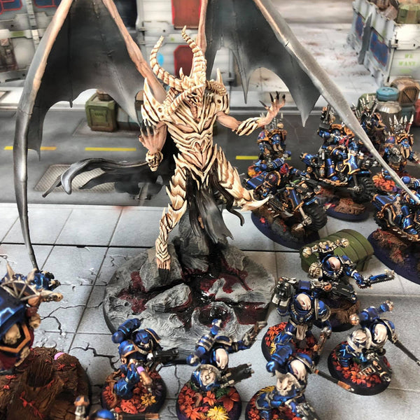 Ossuary Ossuaire peint paint PAINTED DEMON prince proxy countas count as W40K Warhammer 40 0000 GREATER ENTITIES LEGION DISTRIBUTION MY SCENERY