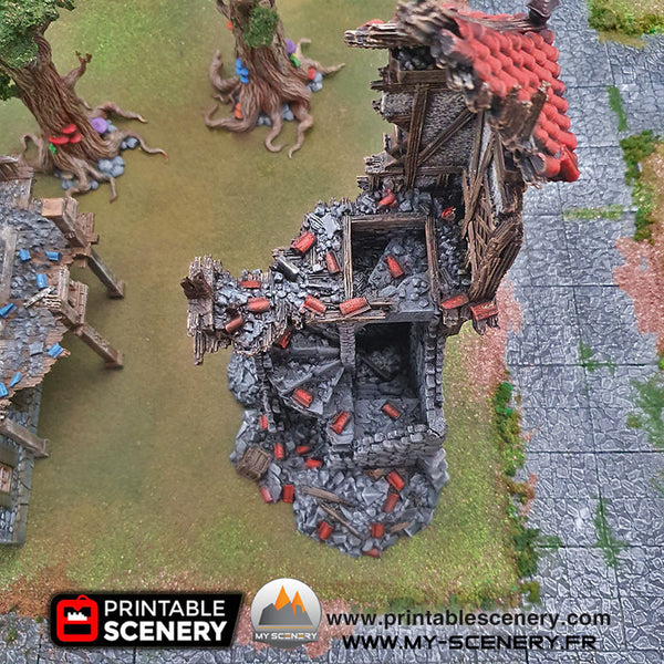 Tour en Ruine Winterdale Ruined Winterdale Watchtower Ruines Ruine Ruin Warhammer Age Of Sigmar Decor Decors Table Warhammer 40K