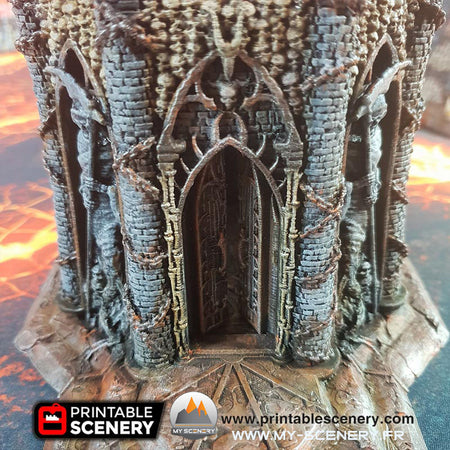 Temple du chaos Demon Demons Temple of damned scenery décor decor print 3D impression 3D imprimé en 3D jeu figurine