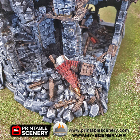 Tour du Sorcier en Ruine Ruines Ruined Sorcerer Tower Warhammer Age Of Sigmar Decor Decors Table Warhammer 40 000