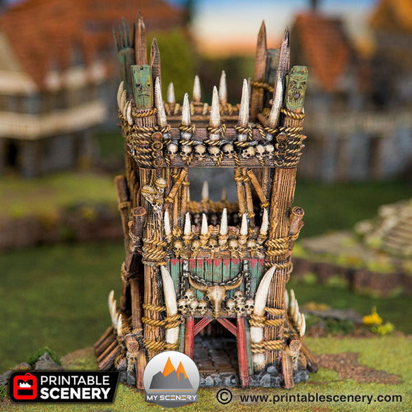 Tour tribal orque tower tribal orc goblin scenery décor decor print 3D impression 3D