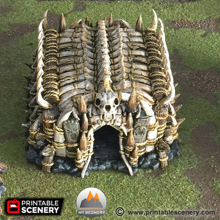 Maison tribal orc orque house scenery décor decor print 3D impression 3D