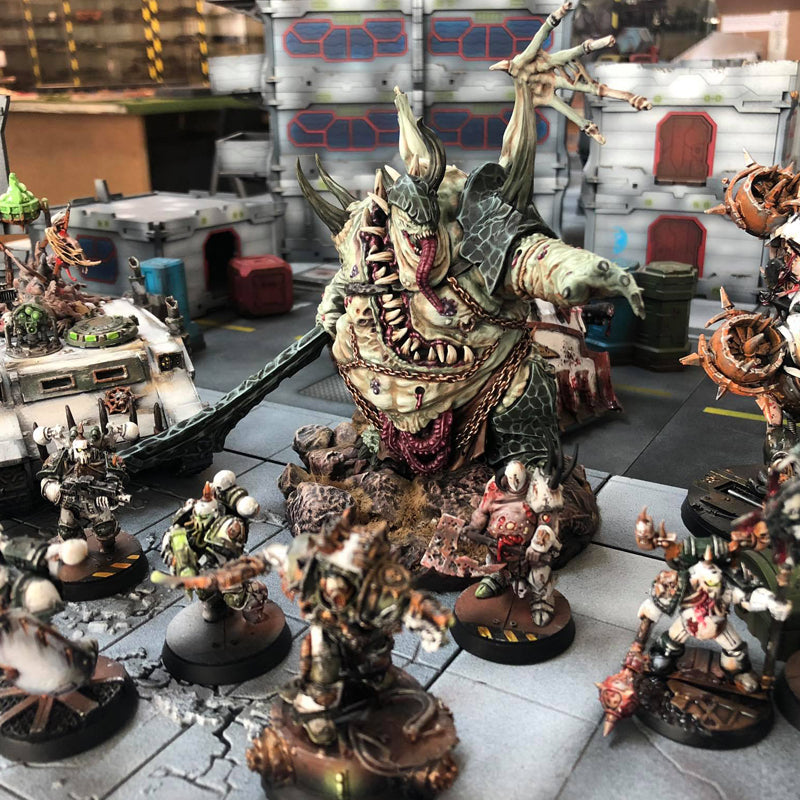 Painted paint peint Yersin DEMON prince proxy countas count as W40K Warhammer 40 0000 GREATER ENTITIES LEGION DISTRIBUTION MY SCENERY nurgle