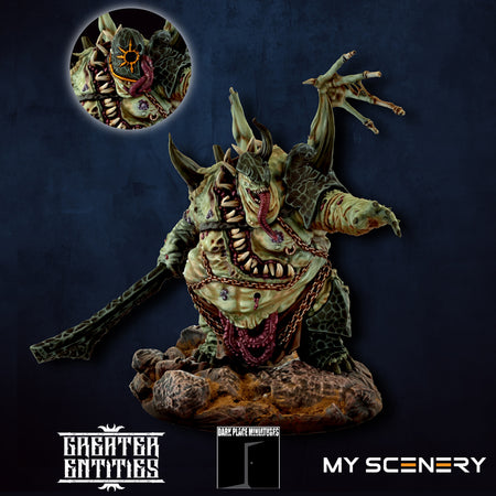 Yersin DEMON prince proxy countas count as W40K Warhammer 40 0000 GREATER ENTITIES LEGION DISTRIBUTION MY SCENERY nurgle