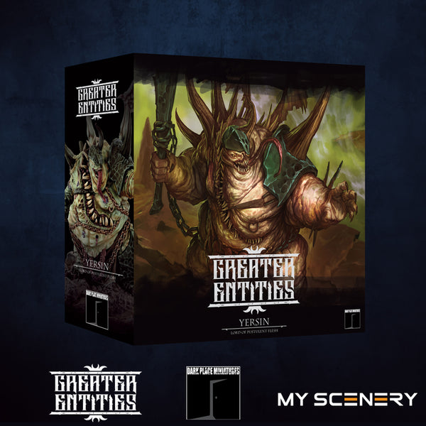 box boite Yersin DEMON prince proxy countas count as W40K Warhammer 40 0000 GREATER ENTITIES LEGION DISTRIBUTION MY SCENERY nurgle