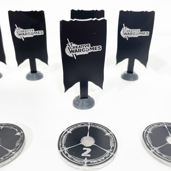 Set Bannières Objectifs 40mm - Objective Markers - Raise the Banners High