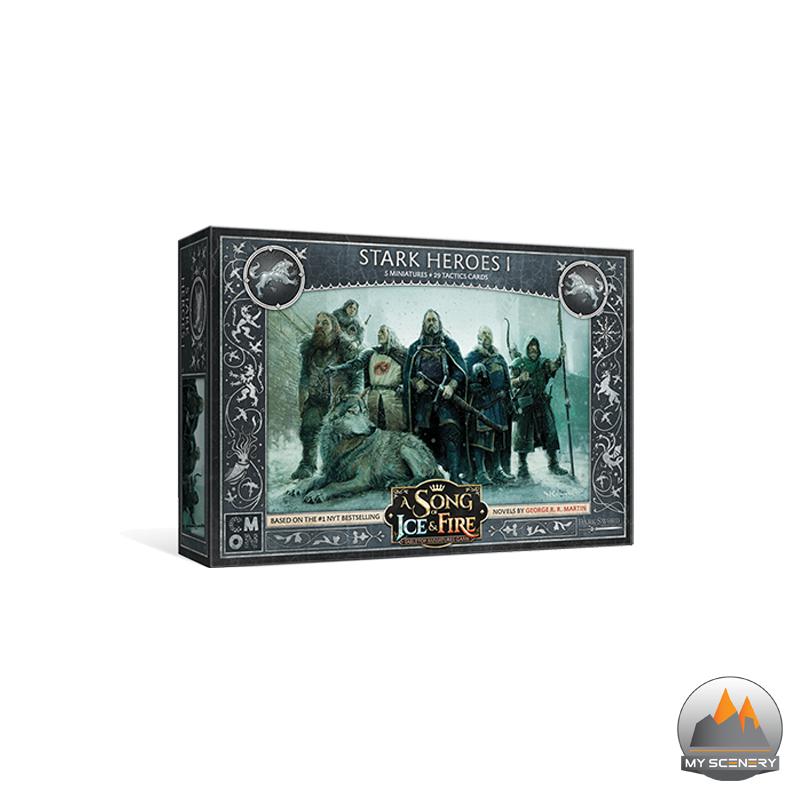 Maison Stark House Héros hero heros heroes heroe A SONG OF ICE AND FIRE ASOIF Le trone de fer le jeu de figurine