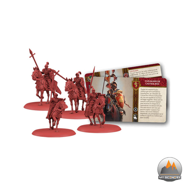 Chevaliers de Castral Roc chevalier Casterly Rock House Knight Knights A SONG OF ICE AND FIRE ASOIF Le trone de fer le jeu de figurine