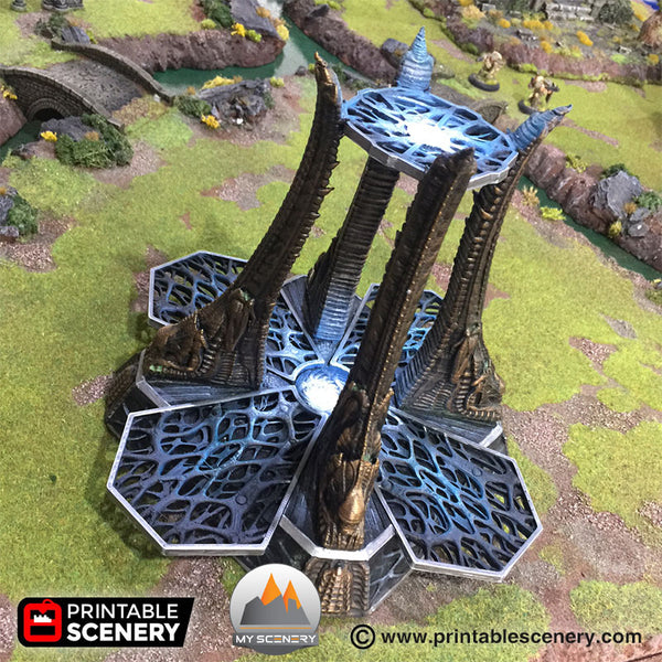 Alien générateur generator portal portail Fort tribal orc defense defence donjon dungeon scenery décor decor print 3D impression 3D