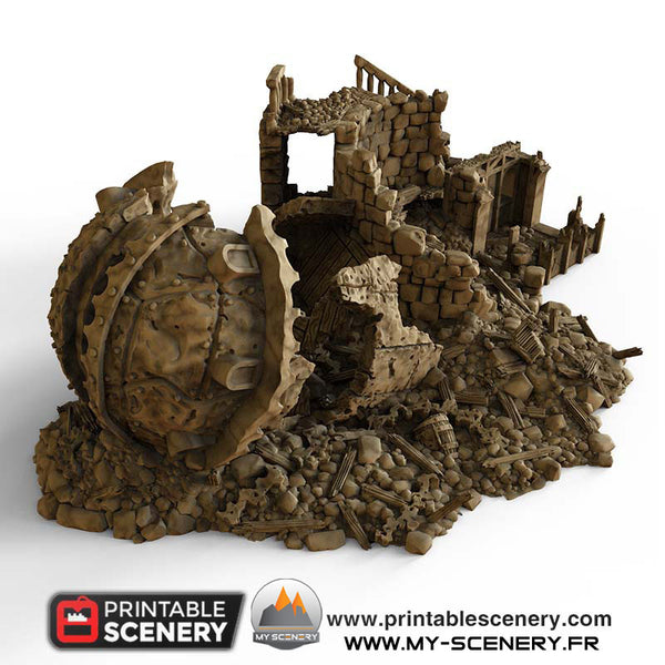 Observatoire en Ruine Ruines Ruined Observatory Warhammer Age Of Sigmar Décor 3D Decors 3D Warhammer 40k