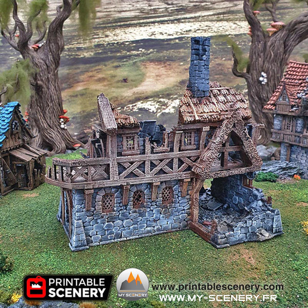 Marchand du port en ruine Ruines Ruined Port Merchant Warhammer Age Of Sigmar Décor 3D Decors 3D Table Warhammer 40 000 fantastique historique