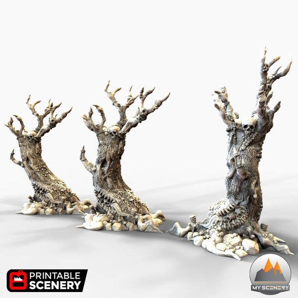 ARBRE Demon Demons vomitting tree scenery décor decor print 3D impression 3D imprimé en 3D jeu figurine