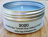 "2020: smells like ""What the actual F**k?"" (White sage & Bergamot Lime) Soulmate Scents Travel Candle FREE SHIPPING!"