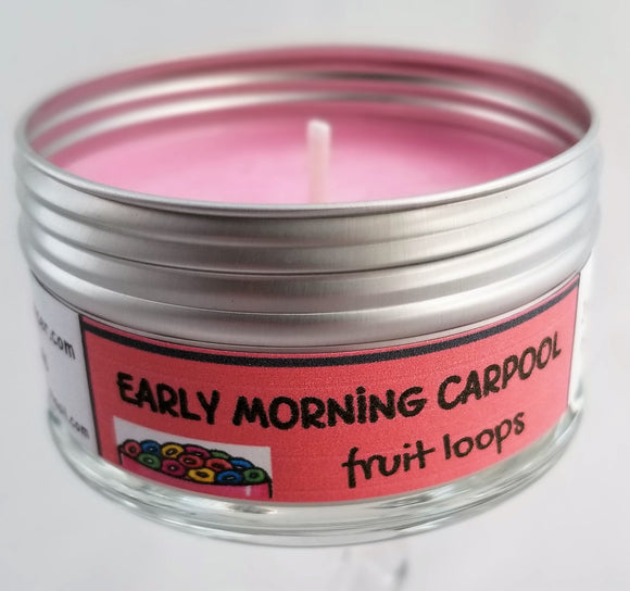 EARLY MORNING CARPOOL (Fruitloops) Soulmate Scents Travel Candle FREE SHIPPING!