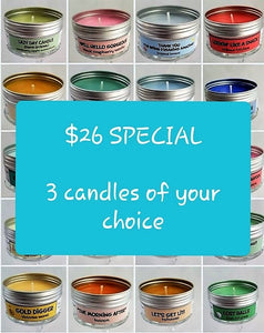 $26 for a 3 pack of Soulmate Scents candles