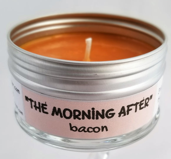 The Morning After (bacon scented) funny Intentionally inappropriate travel candle