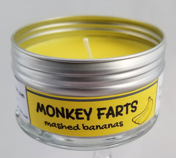 Monkey farts (Bananas) Intentionally Inappropriate Travel Candle funny