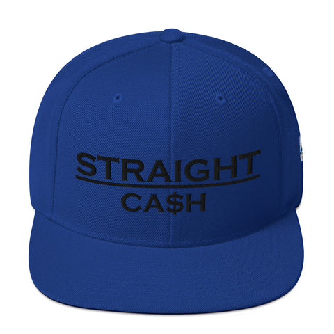 CA$H Snapback - Royal Blue Front