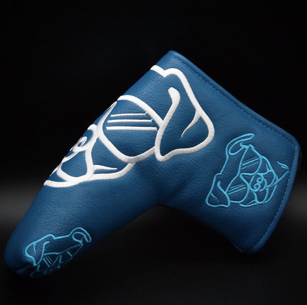 Flush Dog Blue Putter Cover Flush Golf Co.