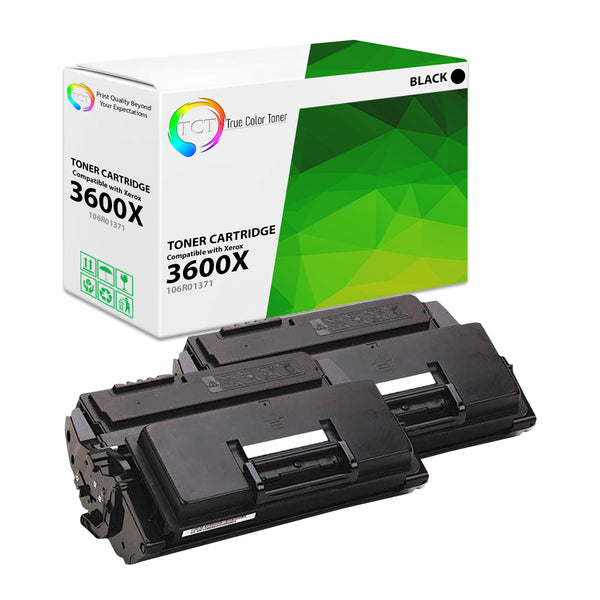 2 - Pack Compatible Black Toner Cartridge Replacement for Xerox 106R01379 - Nov