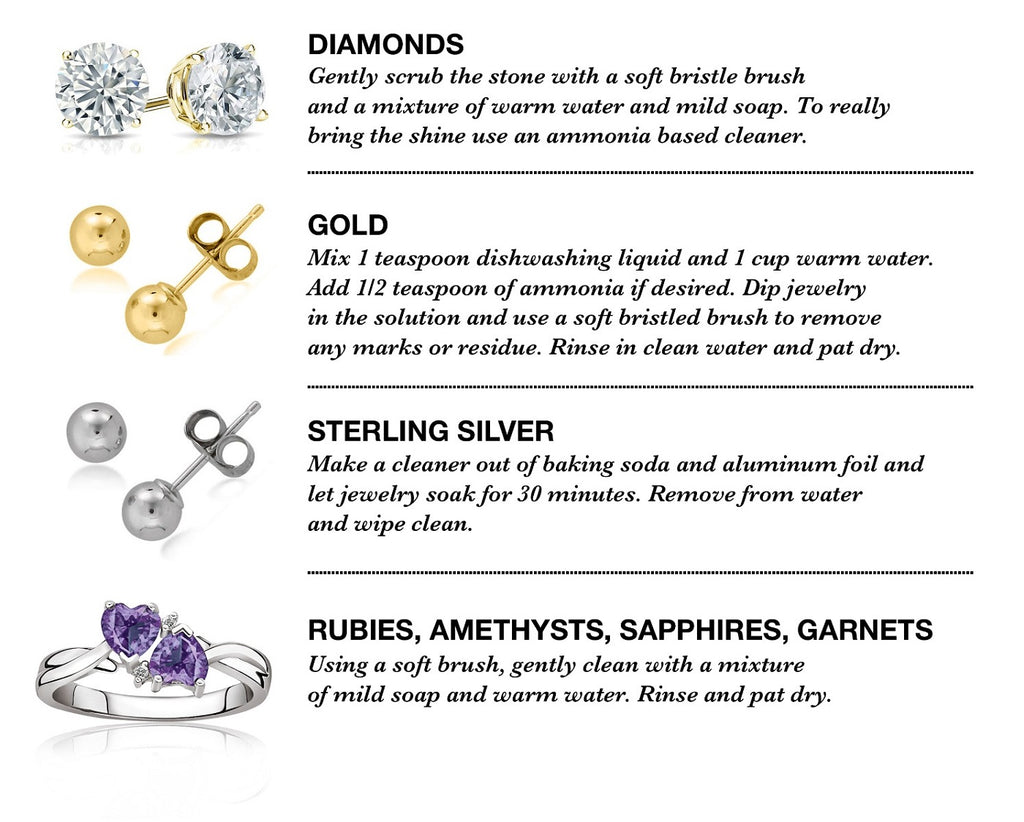 Caring for your gemstone and diamond jewelry