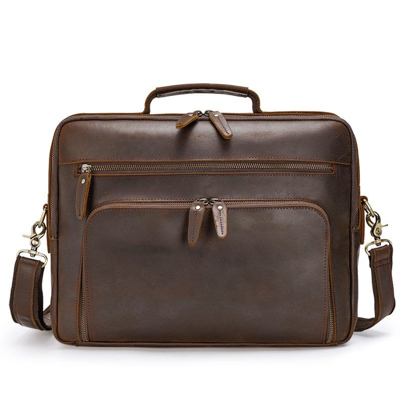 Handmade Full Grain Leather Briefcase