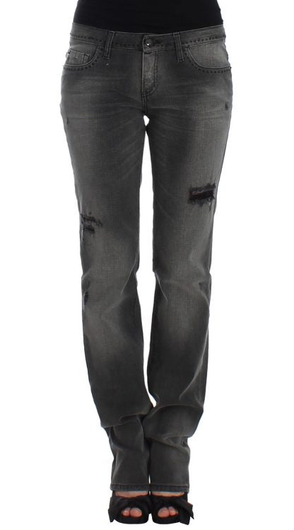 COSTUME NATIONAL  Gray straight leg jeans for lady