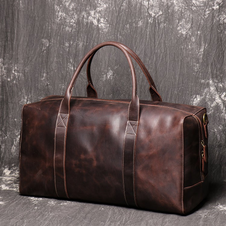 Vintage Genuine Leather Duffel Bag