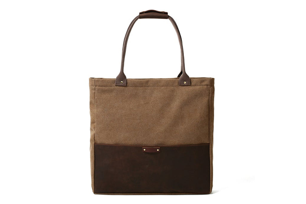 VanityVibe Handmade Canvas Leather Tote Bags