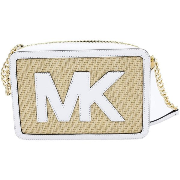 Michael Kors Straw Python Capsule Jet Set Item Large East West Crossbody