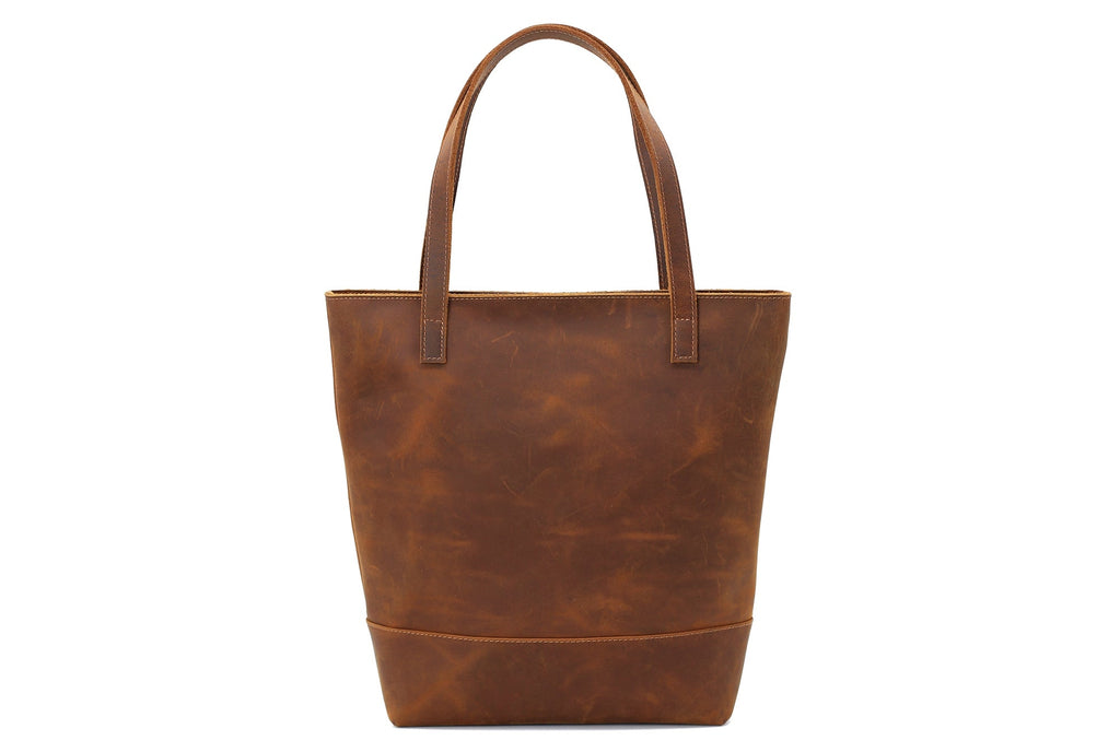 Handmade Vegetable Tanned Leather Tote Bag