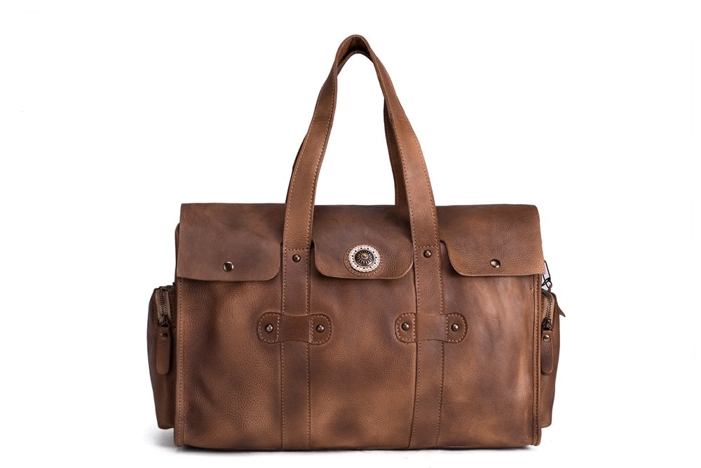 Handmade Vegetable Tanned Leather Travel Bag