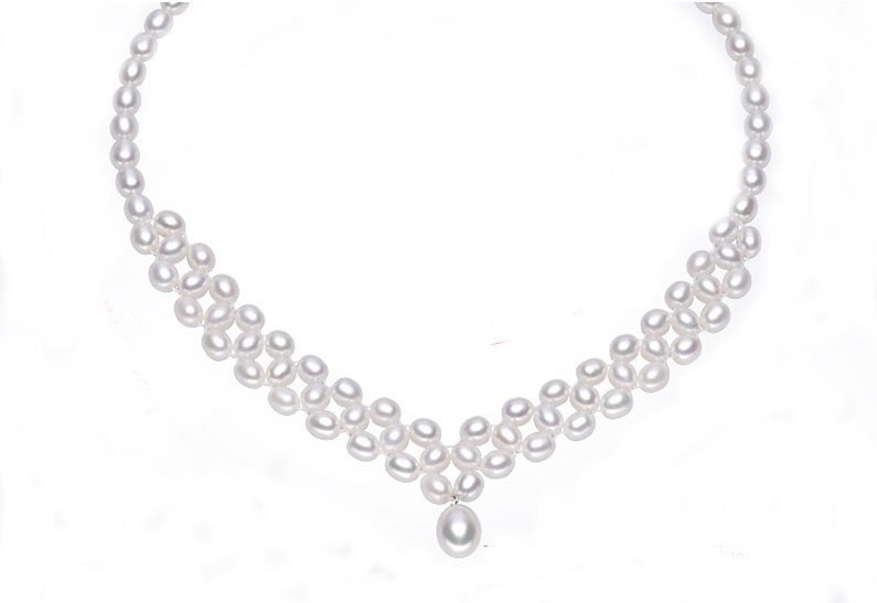 Gorgeous Pearl Necklace Silver Clasp Pearl Jewelry