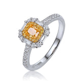 Exquisite! 0.81ct Diamond Engagement Ring 14K White Gold Jewelry