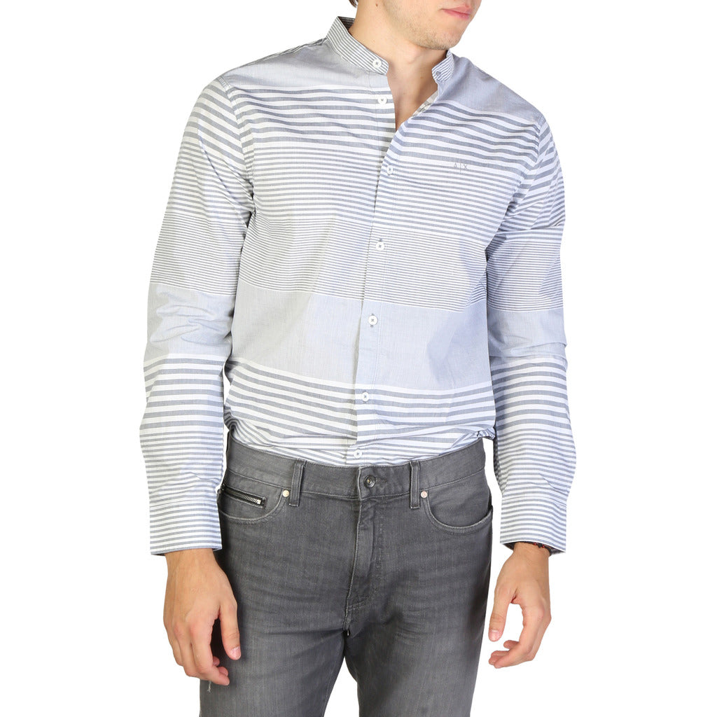Armani Exchange Stunning Men's Striped Shirt