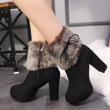 Perfect High Heels Boots Fur Winter Womens Shoes