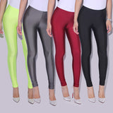 VanityVibe Women's Spandex Leggings Solid Candy Color
