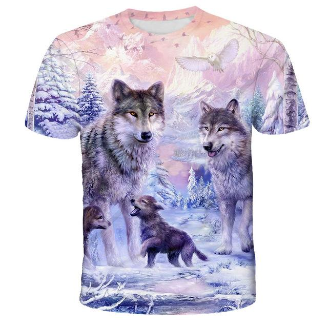 Wolf Lovers Printed 3D Casual Men's T-shirts VV Brand