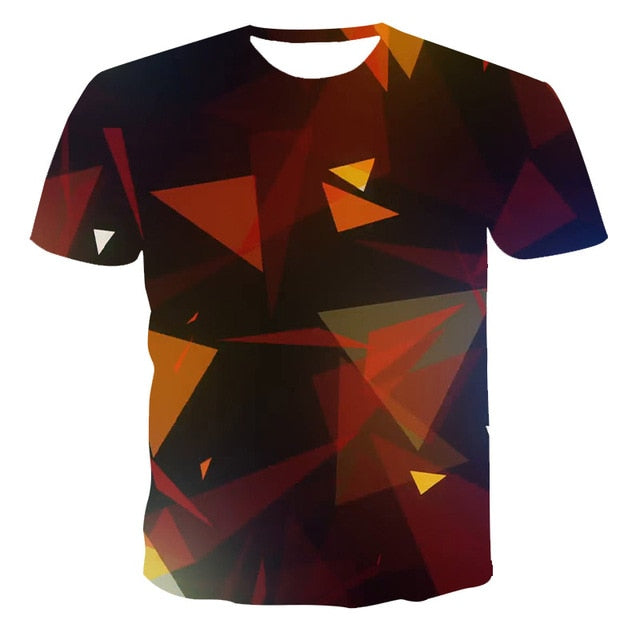 VanityVibe 3D digital printing casual couple T-shirt.