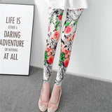 VanityVibe Women's Sweatpants Gym Leggings Flower Printed