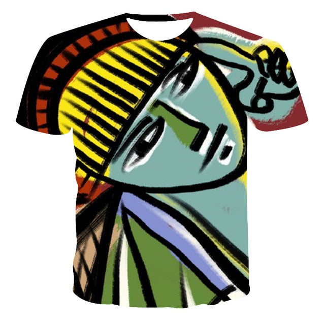 VanityVibe new fashion Men's T-Shirt Geometric patterns Printed